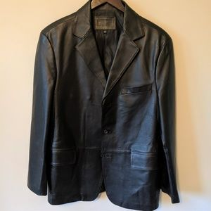 Men's 100% Leather Blazer LIKE NEW